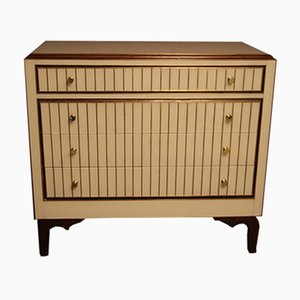 Murano Glass and Brass Chest of Drawers, 1970s