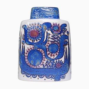 Moderne dänische Tenera Vase in Blau und Lila von Berte Jessen für Royal Copenhagen, 1960er