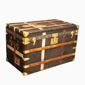 Black Steamer Trunk from Moynat, 1930s