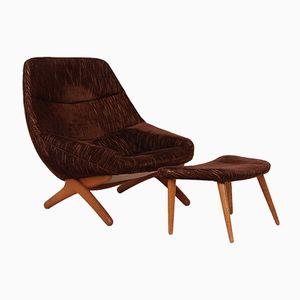 ML91 Sessel und Fußhocker von Illum Wikkelsø für Mikael Laursen, 1950er