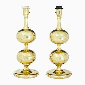 Brass Table Lamps from Borens, 1960s, Set of 2