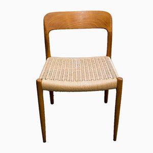 Sedia modello 75 di Niels O. Møller per J.L Møllers, anni '60