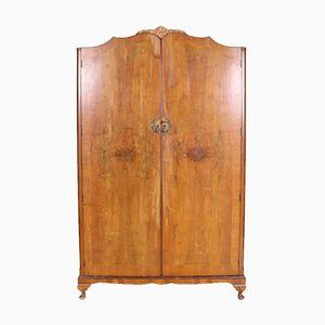 Vintage Kleiderschrank aus Nussholz