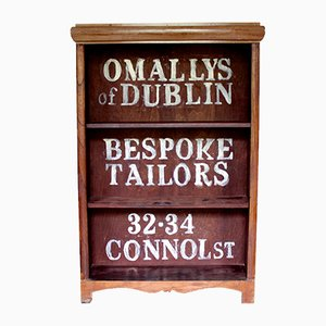 Antique Painted Advertising Bookcase