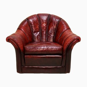 Vintage Oxblood Leather Club Chair