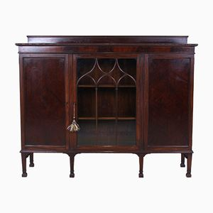Antique Mahogany Bookcase with Display Cabinet