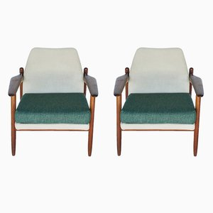 Teak Propos Lounge Chairs from Hulmefa Nieuwe Pekela, 1960s, Set of 2
