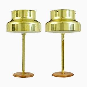 Lámparas de mesa Bumling de latón de Anders Pehrson para Atelje Kyktan, años 60. Juego de 2