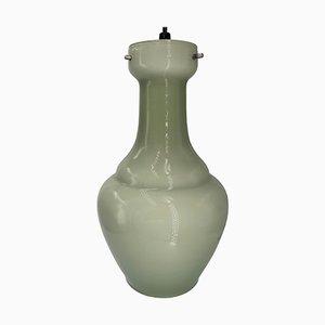 Lampada in vetro di Murano opalino grigio di Vistosi, anni '60