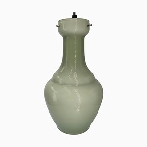 Lámpara colgante italiana de vidrio opalino caqui de Vistosi, años 60