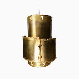 Danish Brutalist Brass Pendant by Svend Aage Holm Sørensen, 1960s