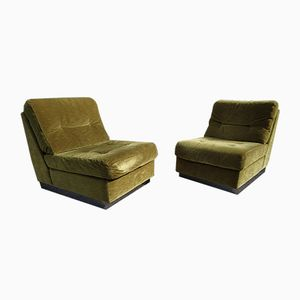 Lounge Chairs by Jacques Charpentier, 1970s, Set of 2