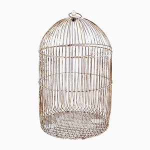 Large Antique Wire Frame Decorative Bird Cage