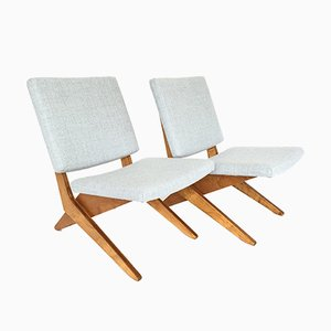 FB18 Scissor Chairs by Jan van Grunsven for Pastoe, 1959, Set of 2