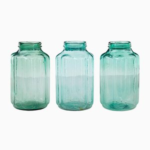 Antique Cucumber Preserving Jars, Set of 3