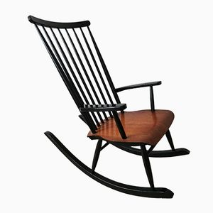 Finnish Rocking Chair by Varjosen Puunjalostus for Uusikyla, 1970s