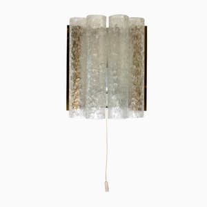 Textured Clear Ice Glass Wall Light from Doria Leuchten, 1960s
