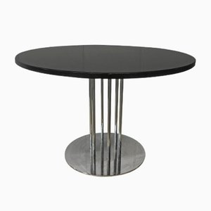 Oak & Steel Dining Table from Thonet, 1980s