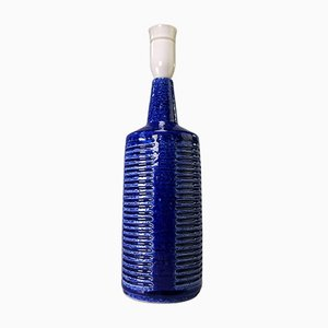 Danish Modern Cobalt Blue Handmade Lamp by Per Linnemann-Schmidt for Palshus, 1960s