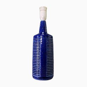 Lámpara danesa moderna en azul cobalto hecha a mano de Per Linnemann-Schmidt para Palshus, años 60