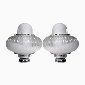 Murano Glass Lamps by Carlo Nason for Mazzega, 1960s, Set of 2