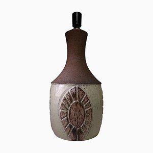Large Danish Modern Handmade Ceramic Table Lamp by Chris Haslev for Jeti, 1960s
