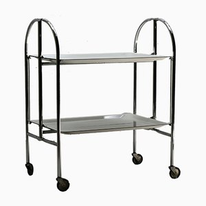 Mid-Century Folding Serving Trolley from Bremshey & Co., 1950s