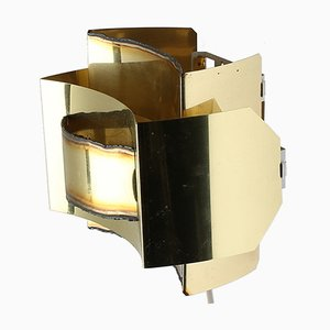 Mid-Century Brutalist Brass Wall Lamp by Svend Aage Holm Sørensen, 1960s