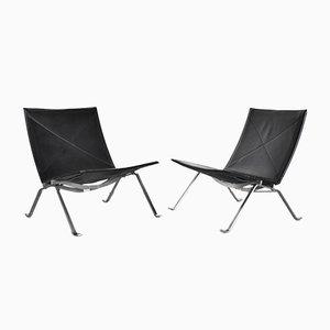 Modell PK22 Sessel von Poul Kjærholm für Fritz Hansen, 1990er, 2er Set