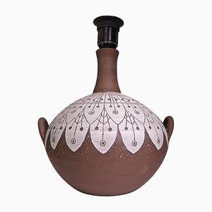Lámpara escandinava hecha a mano de Ulla Winblad-Hjelmqvist para Alingsås keramik, años 60