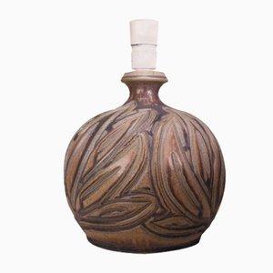 Handgemachte dänische Tischlampe aus Keramik von Løvemose, 1950er