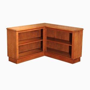 Oak Corner Bookshelf, 1950s