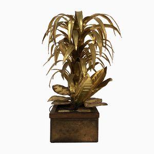 Französische Vintage Palmen Tischlampe