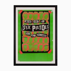 Póster promocional de Never Mind the Sex Pistols Here's the Bollocks de Jamie Reid, 1977
