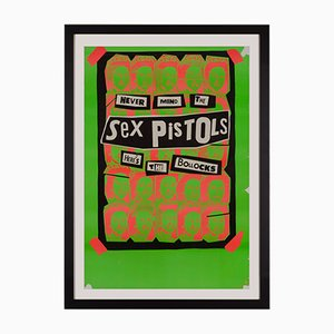 Poster promozionale di Never Mind the Sex Pistols Here's the Bollocks di Jamie Reid, 1977