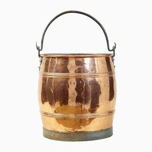 Antiker skandinavischer Eimer aus Kupfer