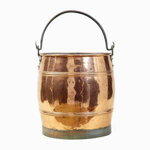 Antique Scandinavian Copper Bucket