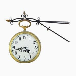 Horloge de Rue Antique en Tôle, Suède, 1900s