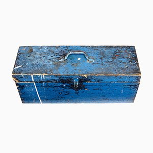 Antique Swedish Pine Painted Tool Box