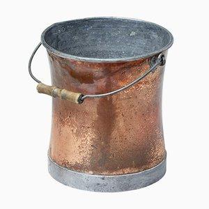 Cubo de cobre y acero, década de 1900