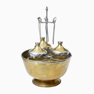 Scandinavian Caviar Ice Server Set, 1920s