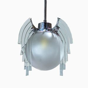 Art Deco English Firefly Globe Pendant, 1930s
