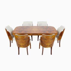 Set da pranzo Art Deco di Harry & Lou Epstein, anni '30