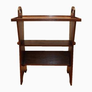 Antique Oak Bookshelf Side Table