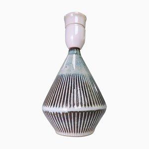 Handmade Sage Stoneware Lamp by Einar Johansen for Soholm, 1960s