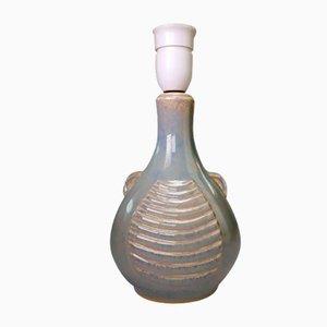 Dänische Modell 1080-2 Tischlampe aus Keramik in Beige von Einar Johansen für Soholm, 1960er
