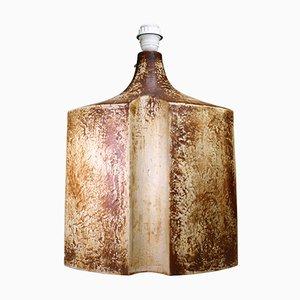 Große plastische Lampe aus Steingut von Haico Nitzsche für Søholm, 1970er