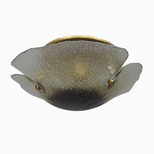 Lampada da soffitto vintage in vetro di Murano di Peill & Putzler, anni '70