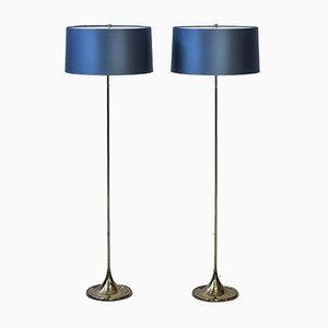 Lámparas de pie G-024 de Alf Svensson & Yngvar Sandström para Bergboms, 1961. Juego de 2