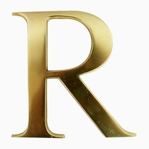 Vintage Decorate Letter R